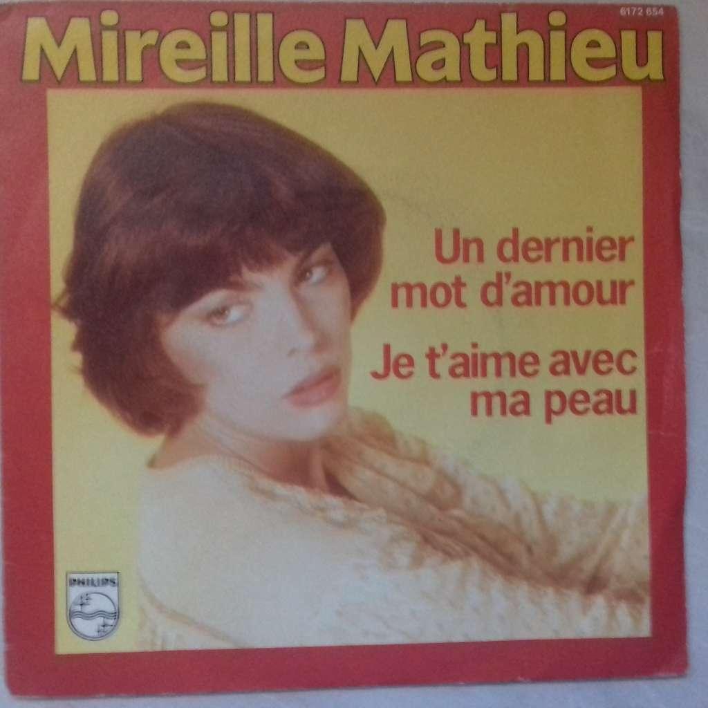 Mireille Mathieu Un Dernier Mot Damour