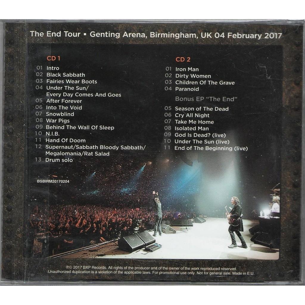 the very end birmingham genting arena uk ep 39 the end 39 by black sabbath cd x. Black Bedroom Furniture Sets. Home Design Ideas