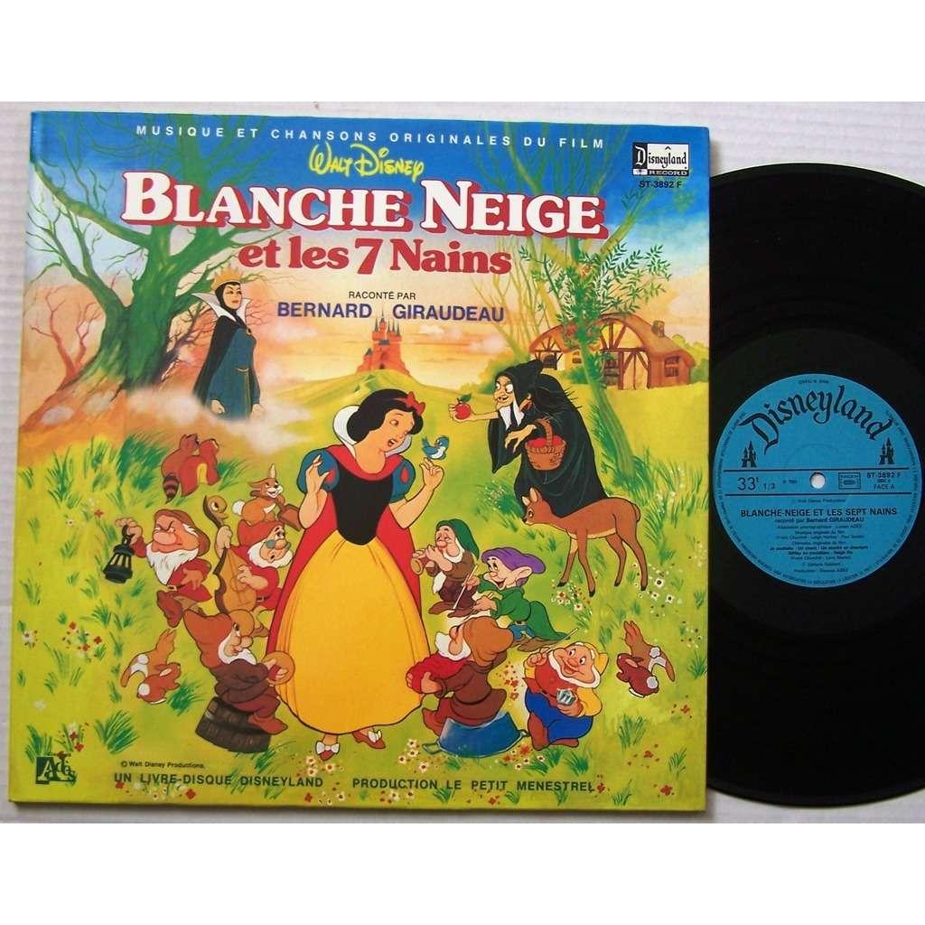 Blanche Neige Et Les Sept Nains Bernard Giraudeau Lp Livre 16 Pages Disque De Walt Disney Blanche Neige Et Les Sept Nains