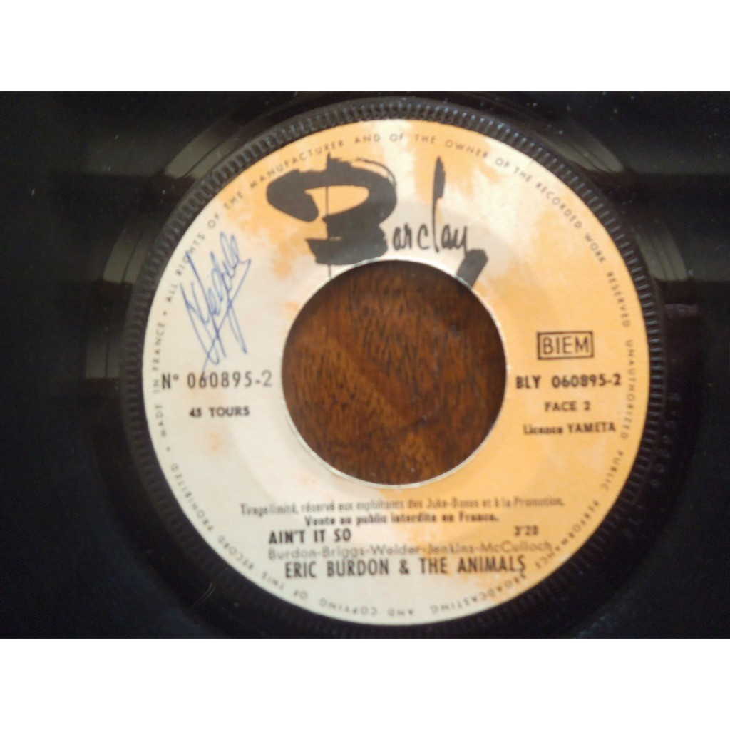ERIC BURDON AND THE ANIMALS monterey / ain't that so