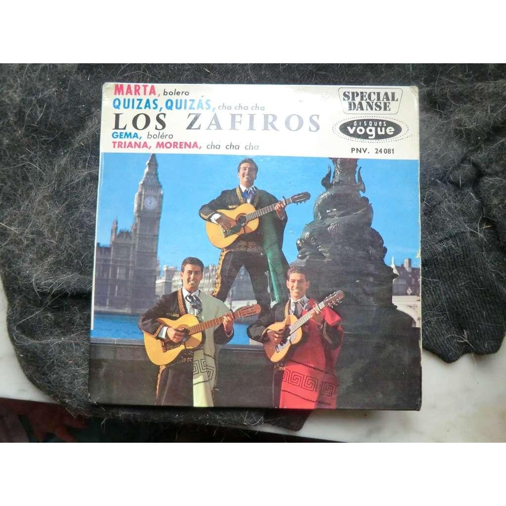 ZAFIROS (Los) Quizas, quizas + 3 (rare original French press - early 1960s - BIEM - fleepback cover)