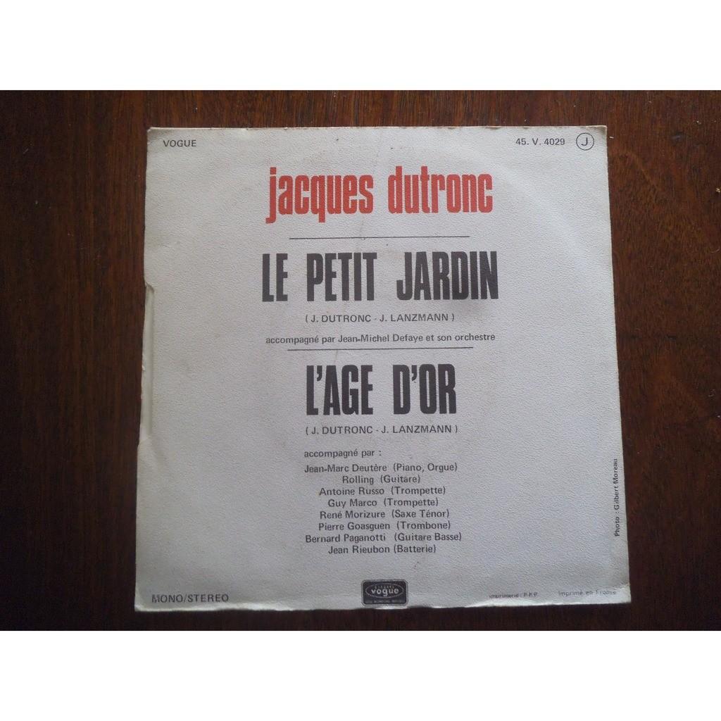Le petit jardin / l\'age d\'or by Jacques Dutronc, SP with valou02