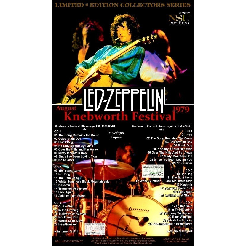 LED ZEPPELIN KNEBWORTH FESTIVALS COMPLETE 1979 AUG LTD 6CD