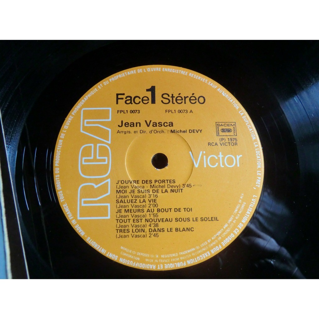 Jean VASCA Midi ( original French press - 1975 - gatefold sleeve)