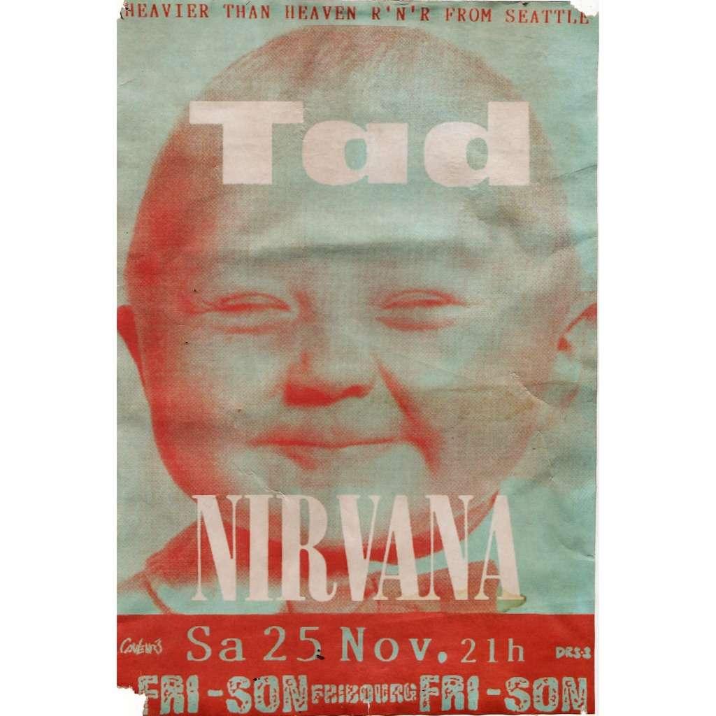 Nirvana TAD Fribourg 25111989 German 1989 Original Promo Concert Poster Flyer