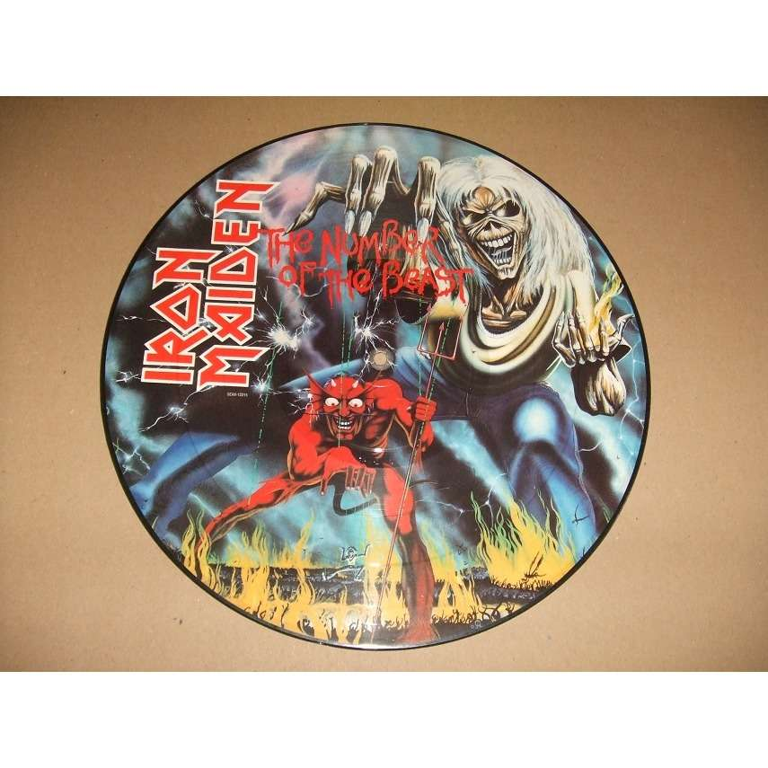 ac795810 The number of the beast (picture disc) by Iron Maiden, LP with ...