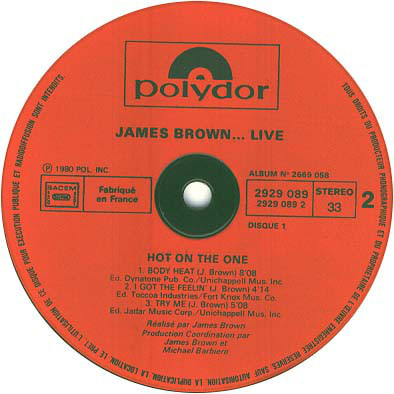 James Brown – ...Live Hot On The One -Recorded Live In Tokyo 13 Tracks