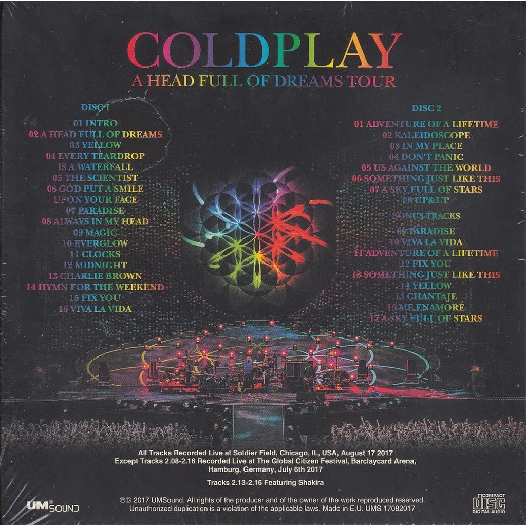A Head Full Of Dreams Tour Live In Chicago By Coldplay