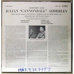 CANNONBALL ADDERLEY JULIAN / MILES DAVIS Somethin' Else