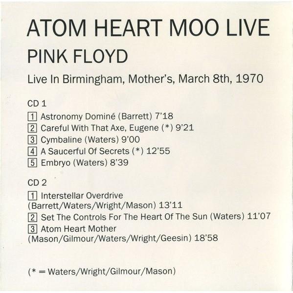 Pink Floyd Atom Heart Moo Live