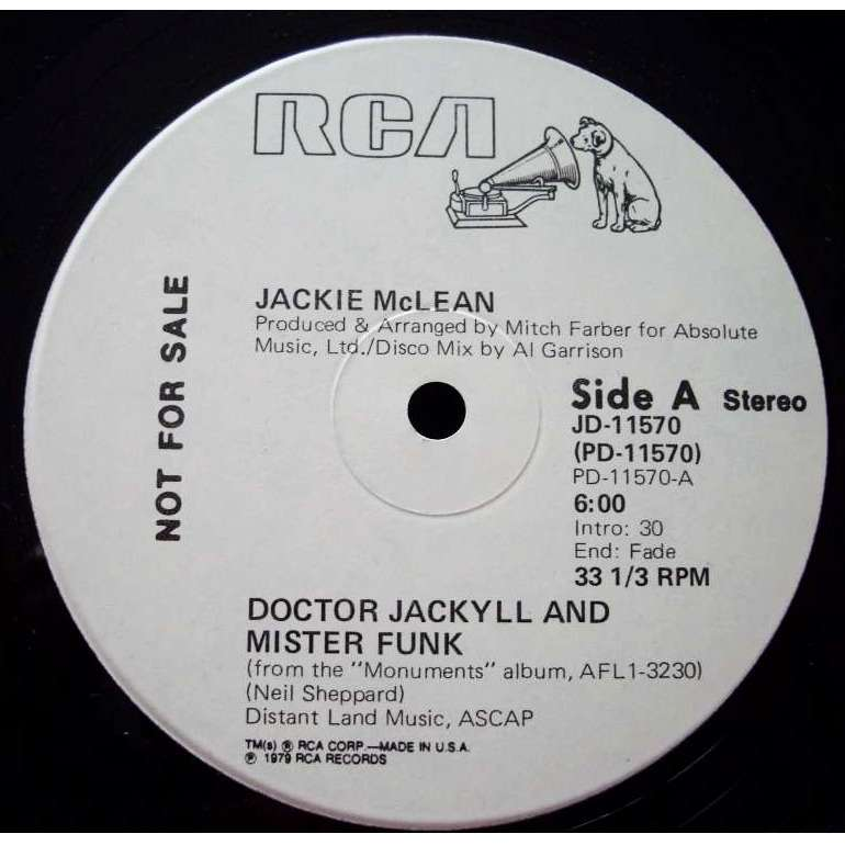 JACKIE MCLEAN doctor jackyll and mister funk / on the slick side (US PROMO)