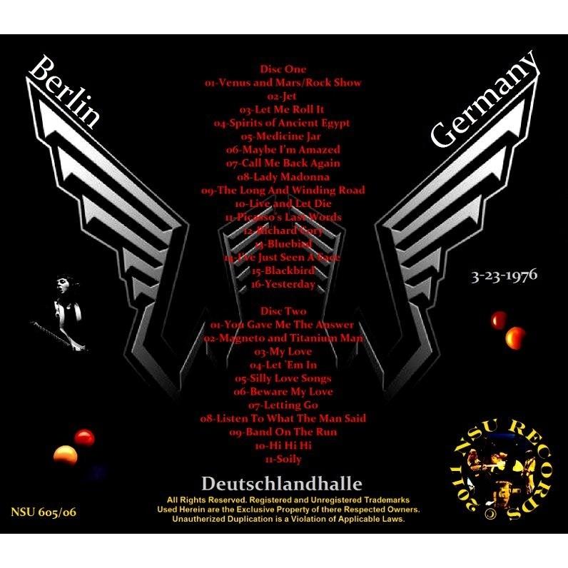 Paul Mccartney Wings LIVE IN BERLIN 3 23 1976 LTD 2CD