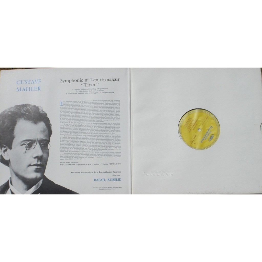 mahler symphonie 1 titan kubelik 139 331 made in germany lp  u0026 cv nm by mahler symphonie 1 titan