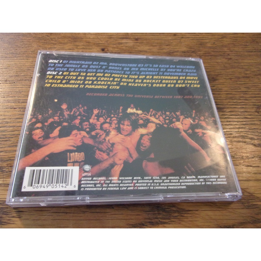 live era 87 93 guns n roses cd ���� celt007
