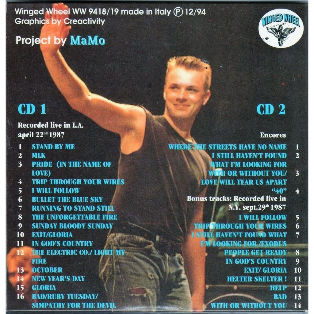 U2 versus the u.s. (los angels 22.04.1987 & ny 29.09.1987) by U2, CD ...