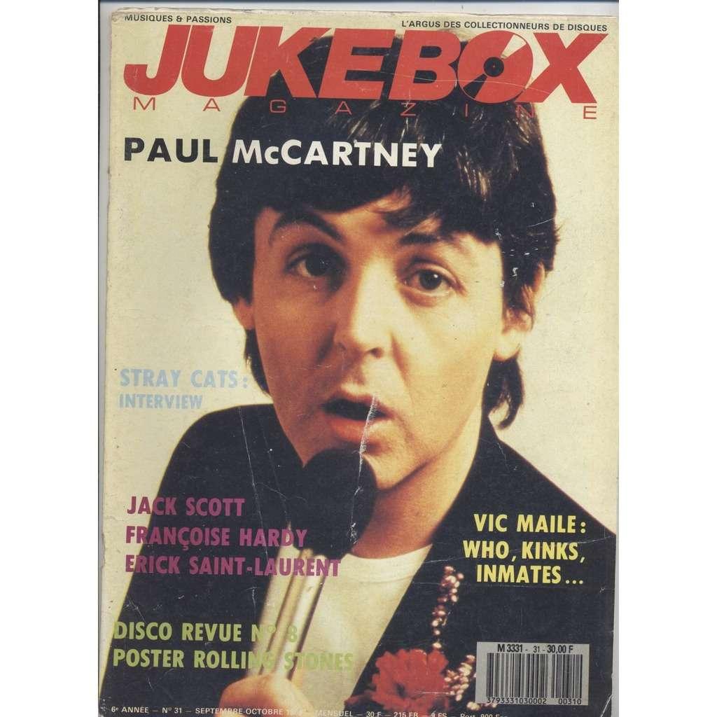 Jukebox magazine N°31 (sept. 1989) PAUL McCARTNEY , VIC MAILE , PSYCHÉDÉLIQUE US DE A à Z ...
