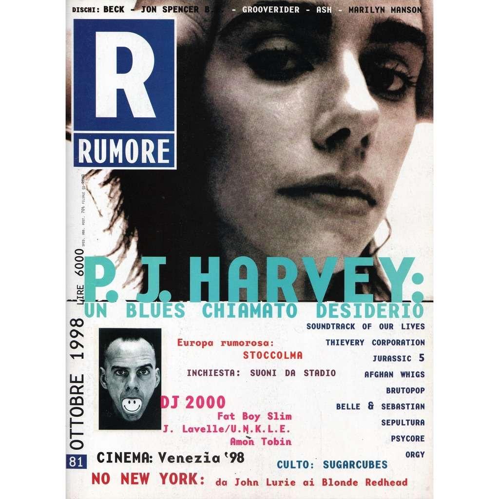 PJ Harvey Rumore (N.81 Oct. 1998) (Italian 1998 PJ Harvey front cover music magazine!)