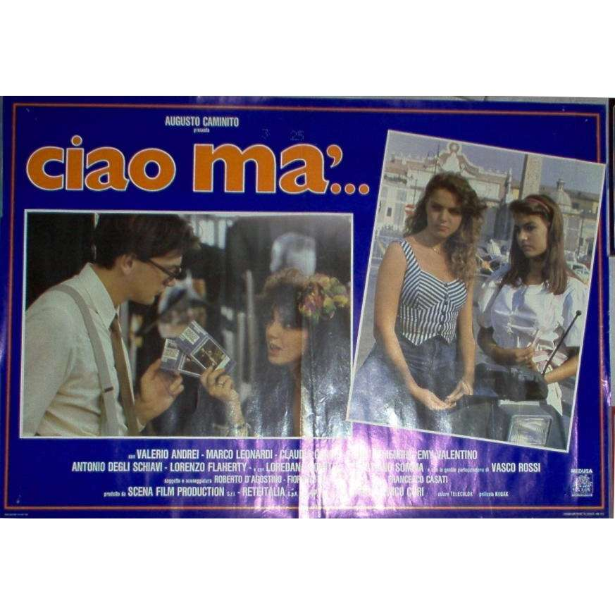 Vasco Rossi Ciao ma'... (Italian 1988 original medium size promo Cinema poster)