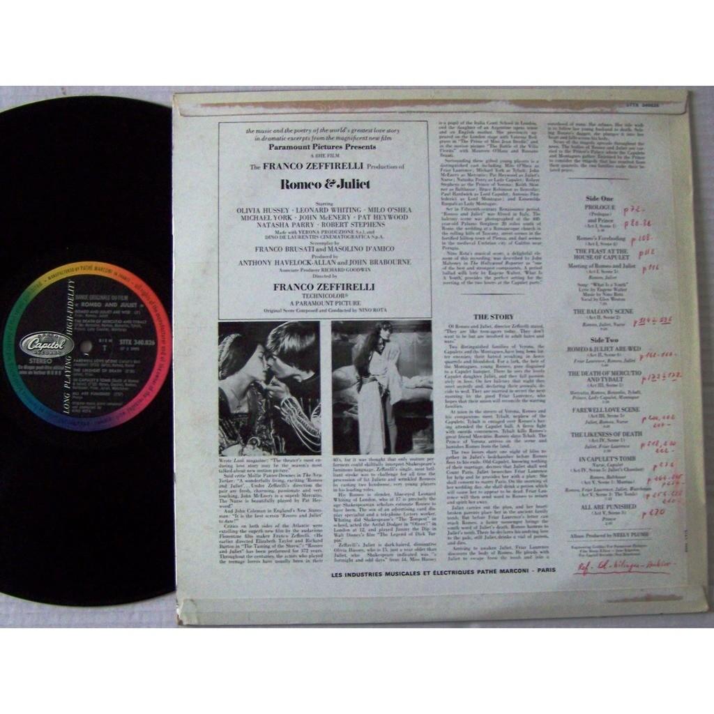 franco zeffirelli / nino rota LP original BIEM / bande originale du film Roméo et juliet