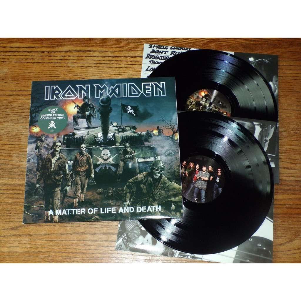 Iron Maiden ‎ A Matter Of Life And Death - Gatefold - 2LP