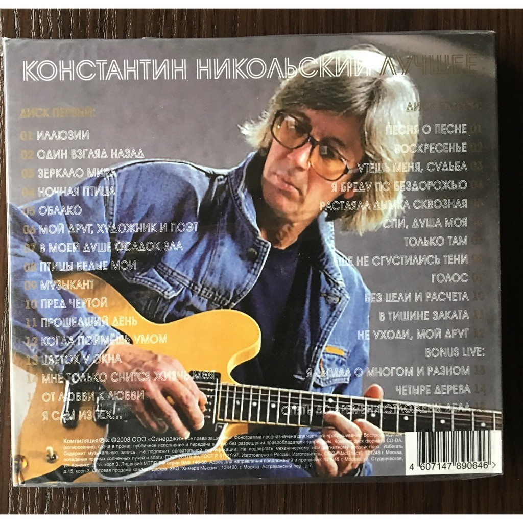 Konstantin Nikolsky (USSR/Russia) Best Of ... Double CD (Top Sound 2008) Russian Top Rock Act