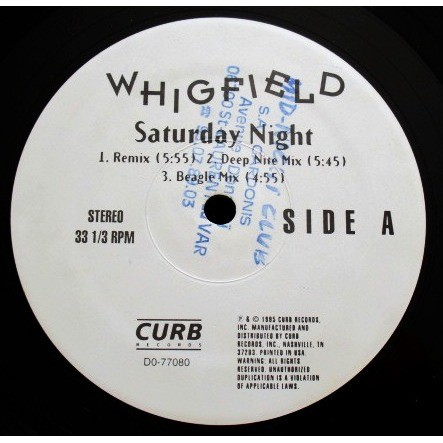 Whigfield Saturday Night