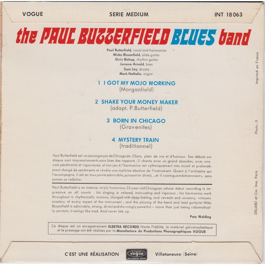 the paul butterfield blues band i got my mojo working