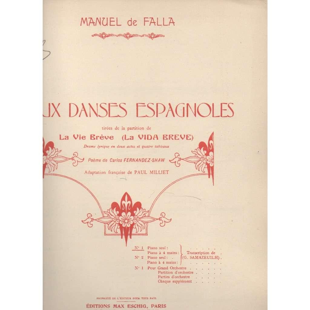 Manuel De Falla La Vie Brevedeux Danses Espagnoles