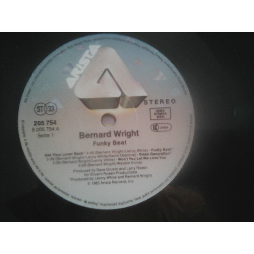 Bernard Wright - Funky Beat (LP, Album) Bernard Wright - Funky Beat (LP, Album)