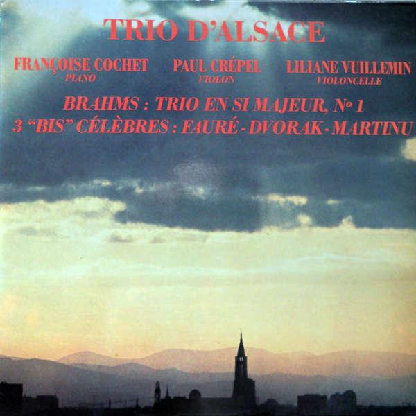 Trio d'Alsace Brahms Trio en si mineur n°1