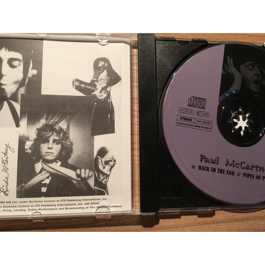 Back to the egg / pipes of peace (air rec) by Paul Mccartney, CD with  non-metal