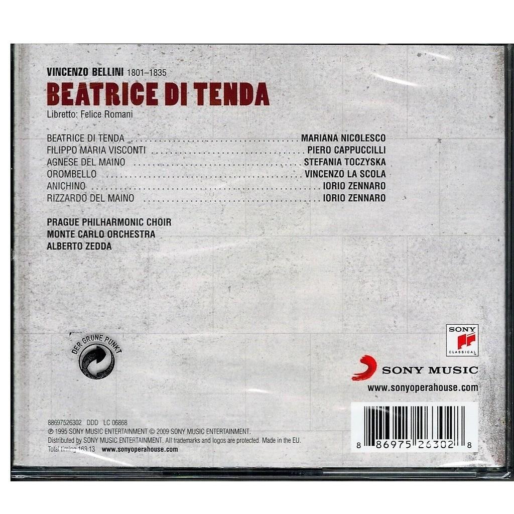 Bellini, Vincenzo Beatrice di Tenda / Piero Cappuccilli, Mariana Nicolesco,Monte Carlo National Opera O, Alberto Zedda