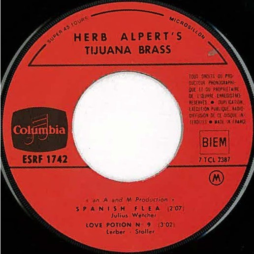 Herb ALPERT & The TIJUANA BRASS Spanish Flea + 3 (original French press - mid 1960s - fleepback + tag cover - BIEM)