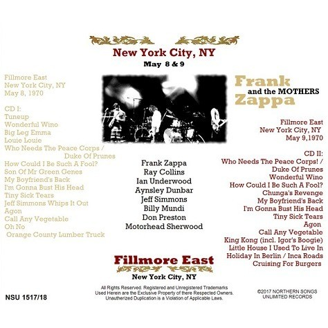 Live At The Fillmore East 1970 May 8 Amp 9 Ltd 2cd By Frank