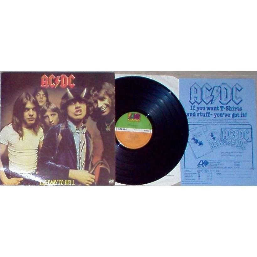 AC/DC Highway to Hell (UK 1979 original 10-trk LP full ps + 'merchandising' original insert!!)