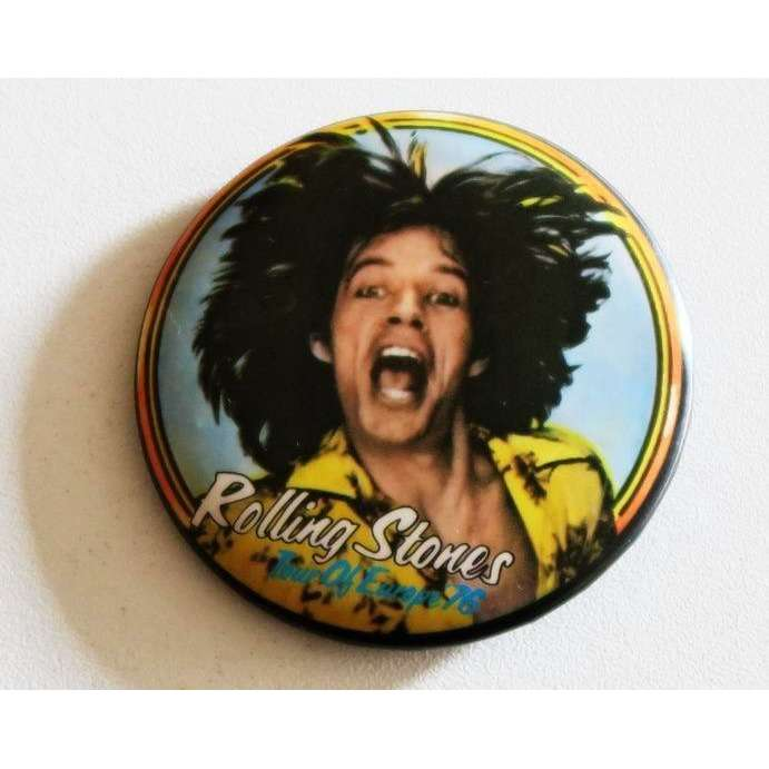 the rolling stones Mick Jagger - Tour of Europe 76 BADGE