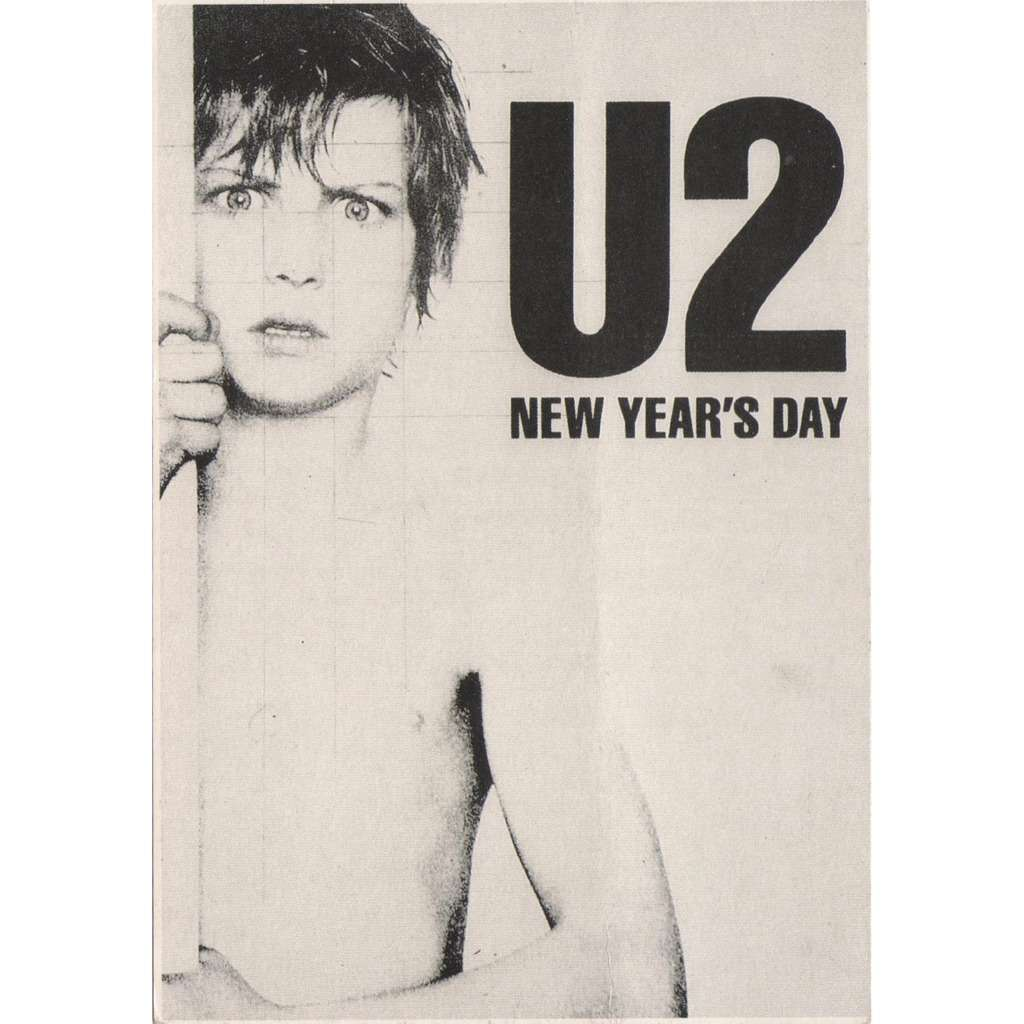 u2 new years day uk 1982 underground official licensed promo card