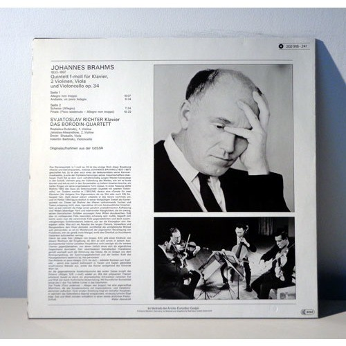 BORODIN QUARTET & SVIATOSLAV RICHTER BRAHMS Piano quintet