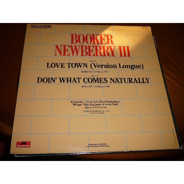 Booker NEWBERRY III love town / doin' what comes naturally