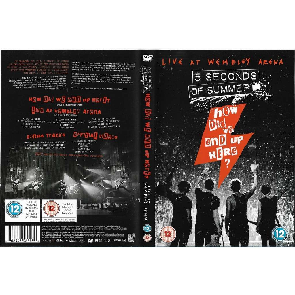 How Did We End Up Here Live At Wembley Arena Dvd By 5 Seconds Of Summer Dvd With Libertemusic Ref 118974826