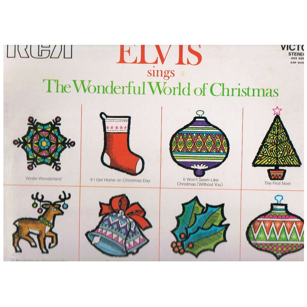 Elvis sings the wonderful world of christmas by Elvis Presley, LP ...
