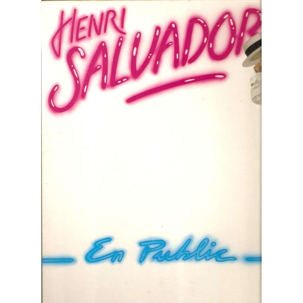 SALVADOR Henri EN PUBLIC