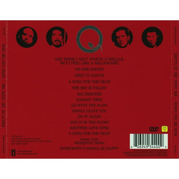 songs for the deaf de queens of the stone age cd dvd