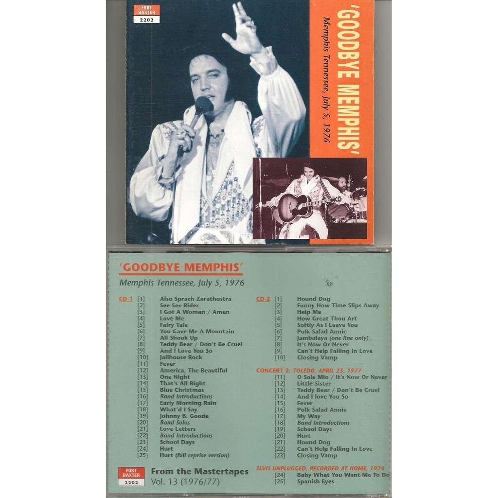elvis presley 2 cd goodbye memphis 5/7/76 soundboard show