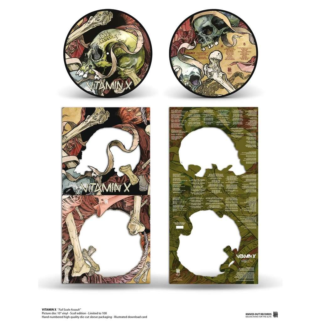KNIVES OUT RECORDS : VITAMIN X Full Scale Assault - 25 cm