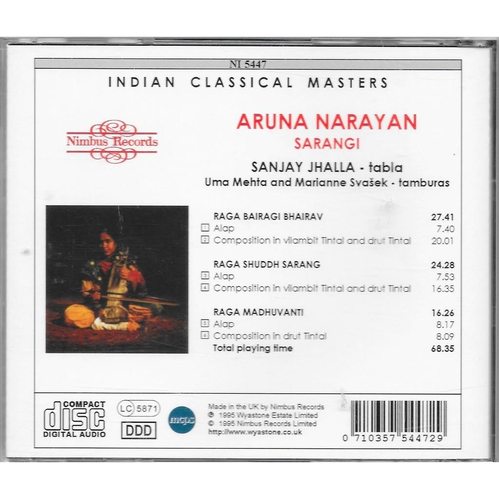 aruna narayan raga bairagi bhairav, raga shuddh sarang ...