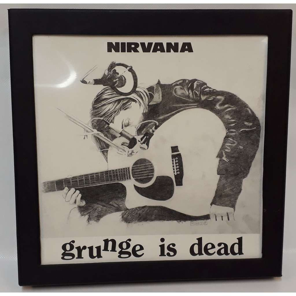 NIRVANA THE GRUNGE IS DEAD Limited Edition BOX CD Single Poster T