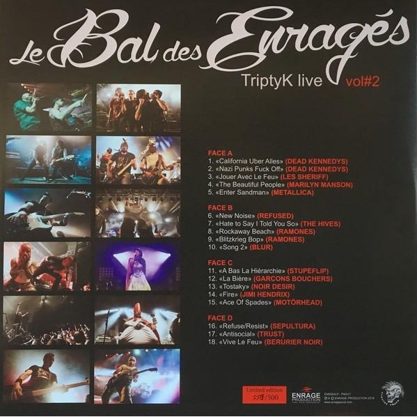 Le Bal Des Enragés TriptyK LivE Vol.2 (2xlp) Ltd Edit Gatefold Sleeve -Fr