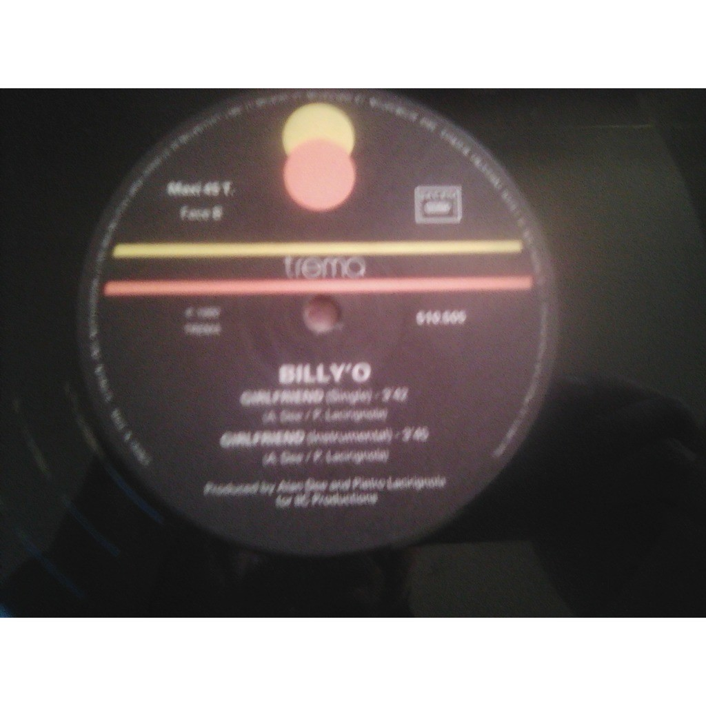 Billy' O ‎ Girlfriend (Dance Mix)