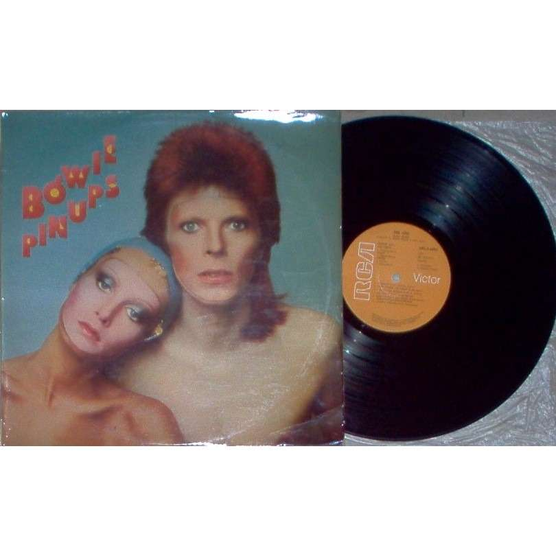David Bowie Pinups (South Africa 1974 original Ltd 12-trk LP front laminated not gf white bordered flipback ps)